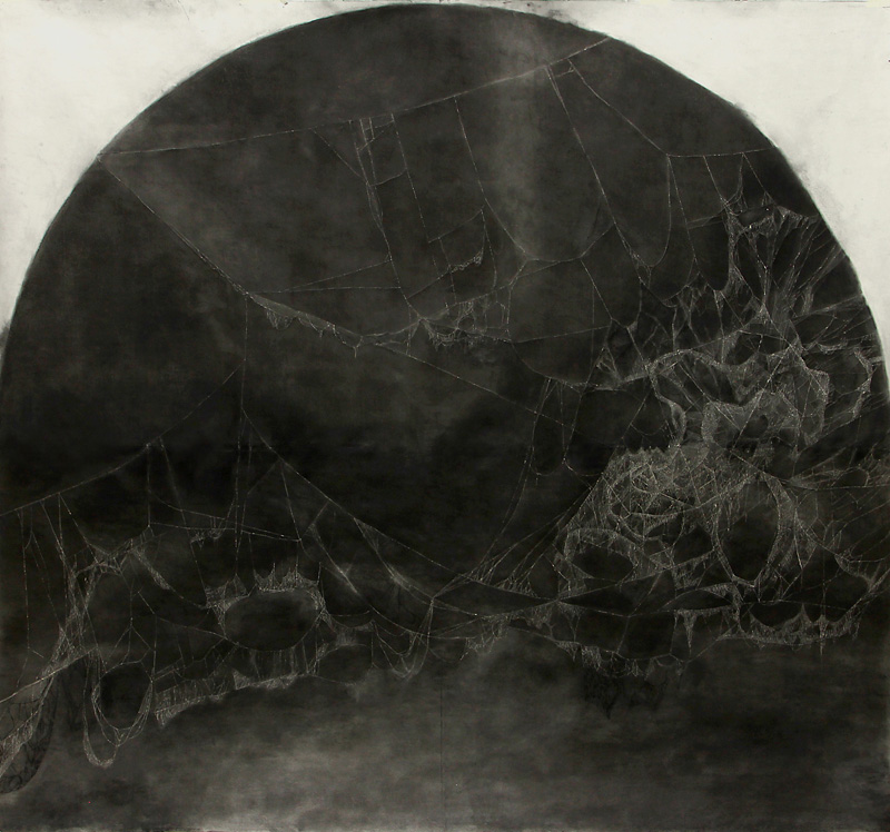 webs I 2014_charcoal_on_paper_225x212cm2
