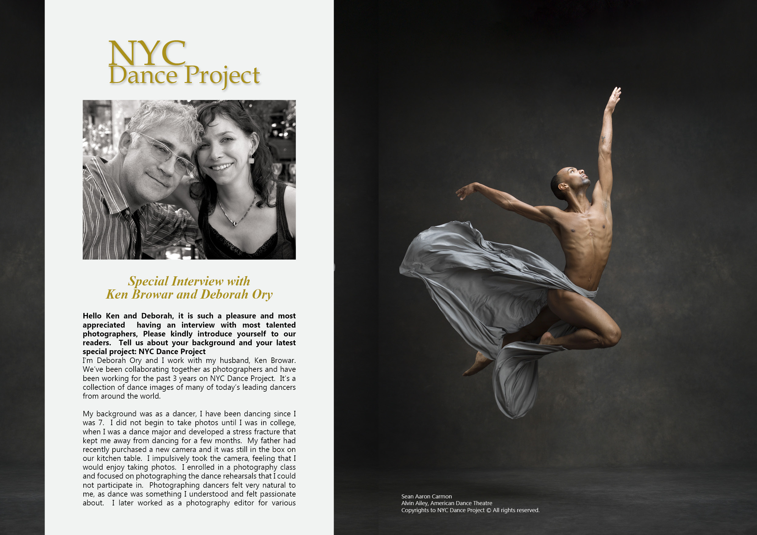 NYC Dance Project Interview on Lens Magazine