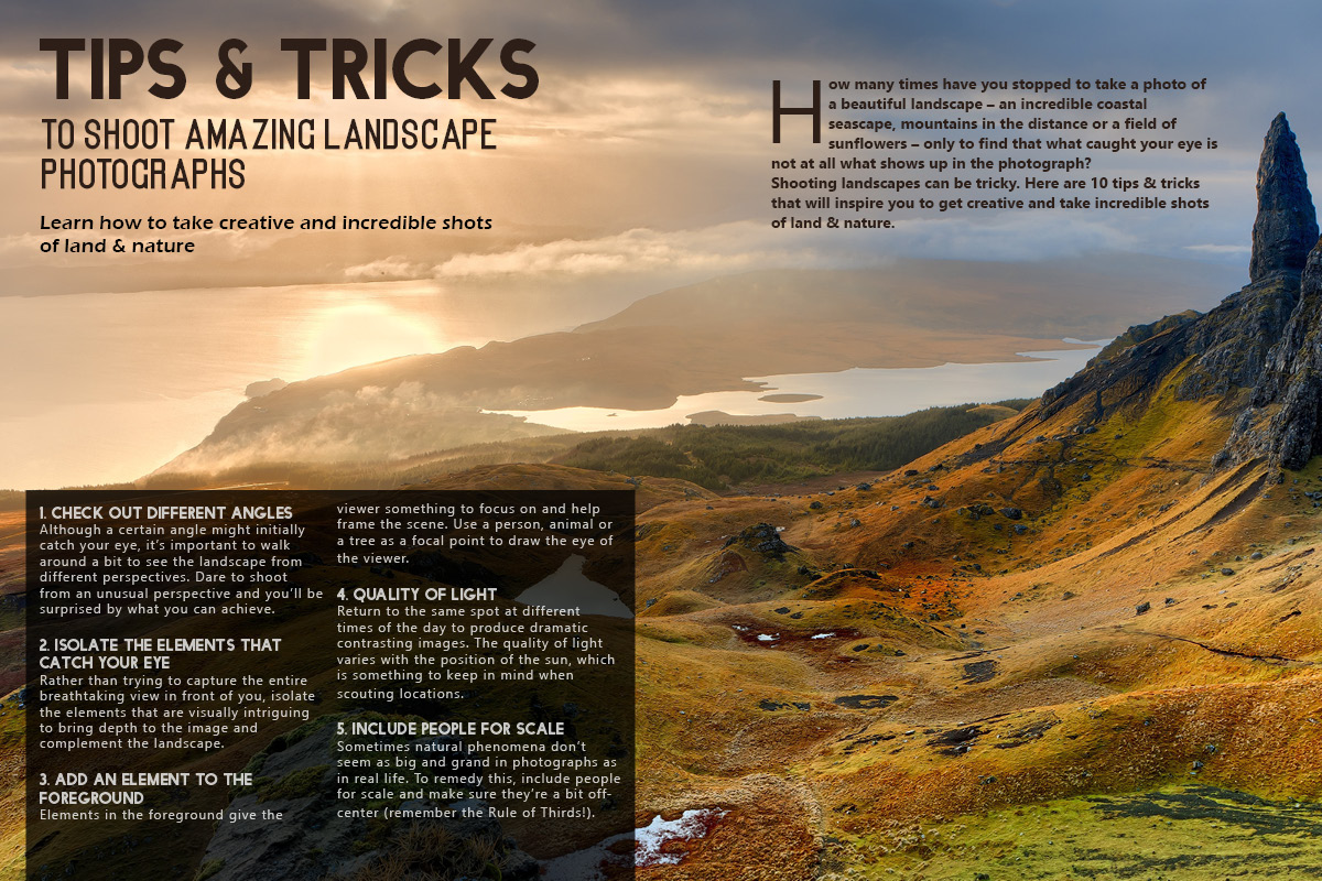 Tips and Tricks for landscape photography