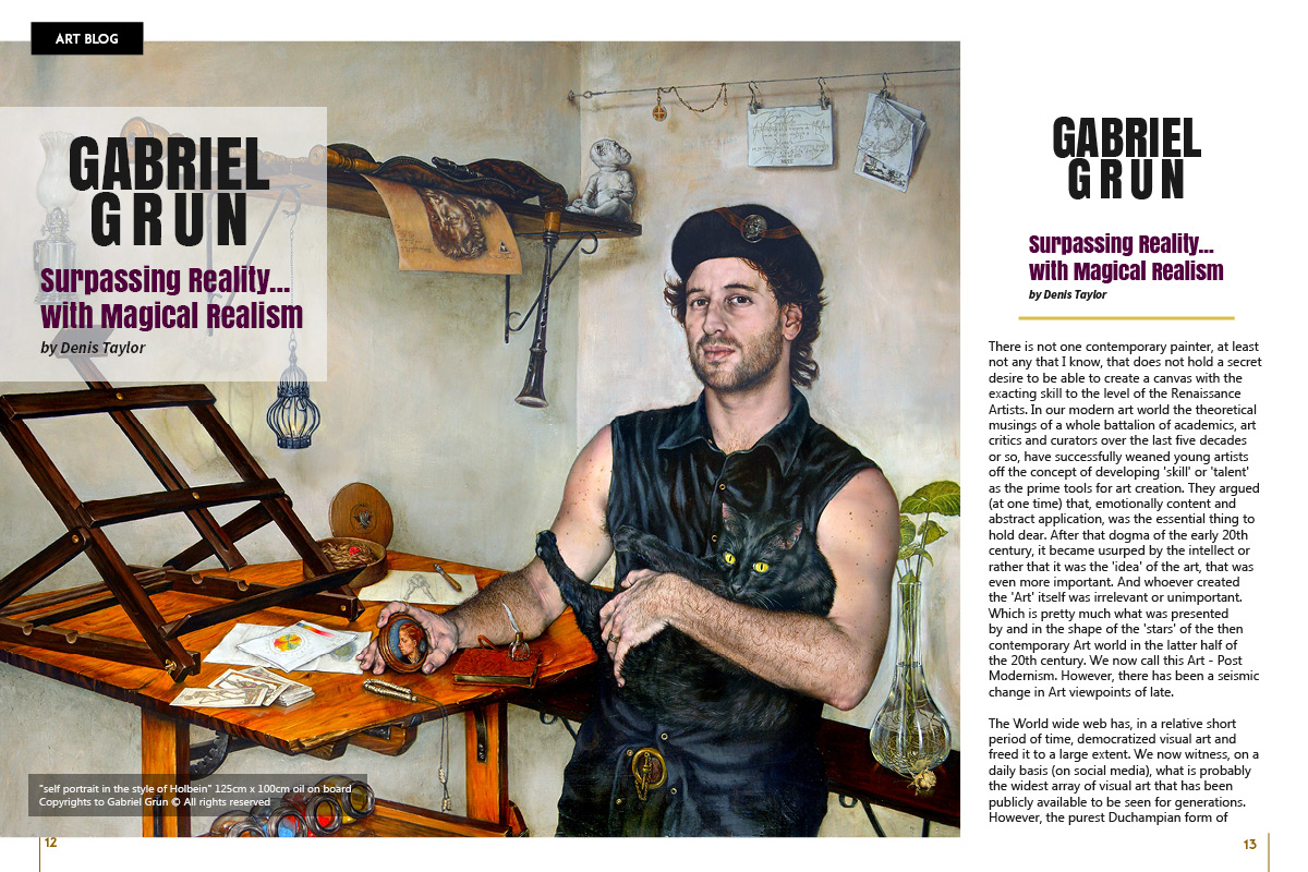 Gabriel Grun on Art Market Magazine