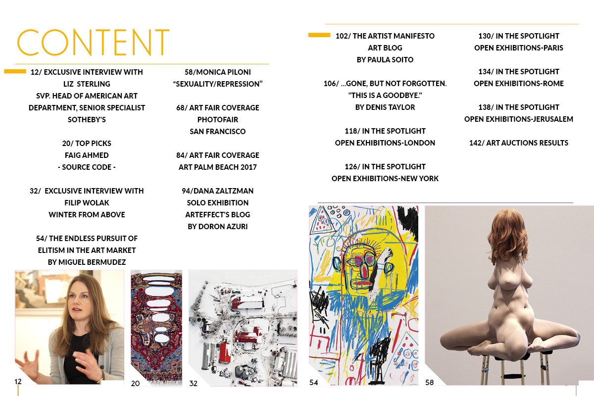 Art Market Magazine Issue 33 Content