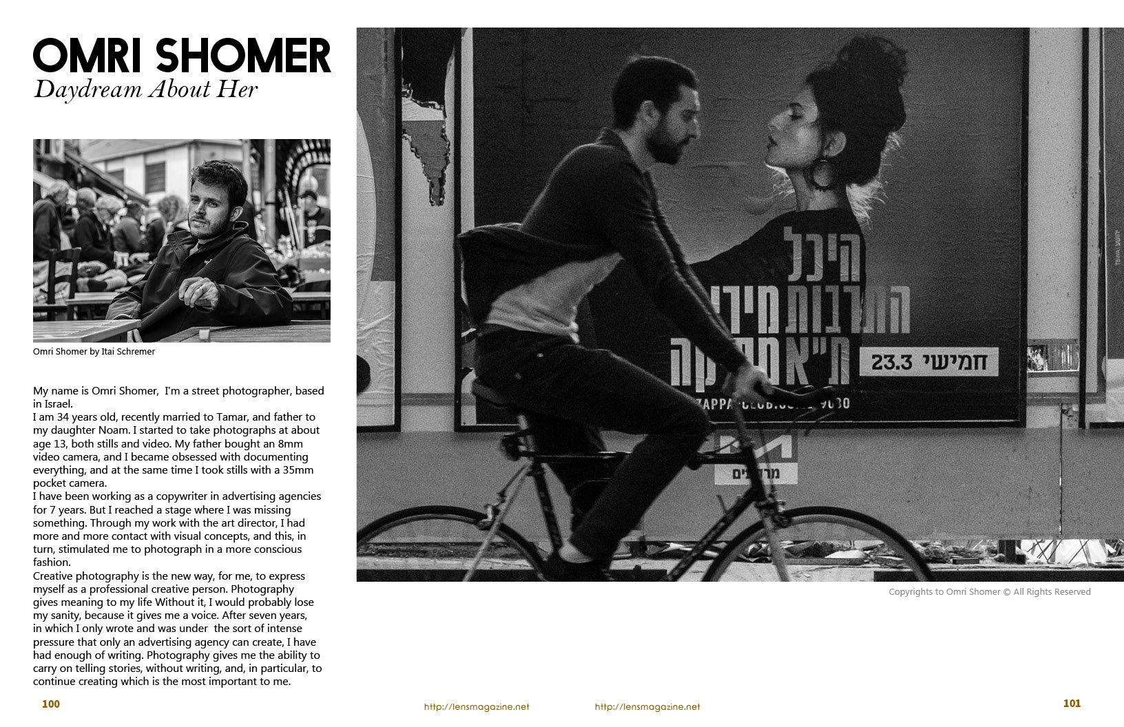 Omri Shomer on Lens Magazine Issue 30