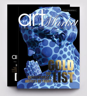 Art Market Magazine GOLD LIST Special Edition, available in a Worldwide distribution, on All Barnes&Noble Bookstores in the US&Canada, and in Steimatzky Bookstores in Israel.