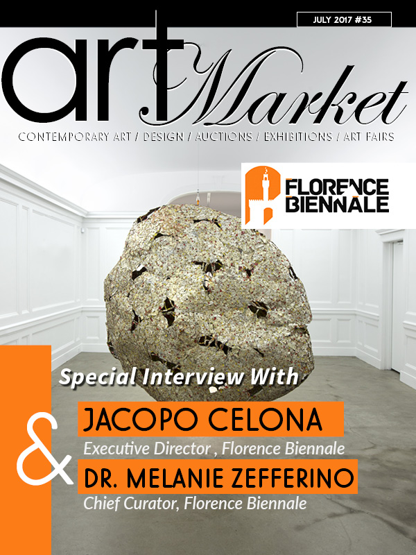 FLORENCE BIENNALE 2017- Interviews & Coverage on Art Market Magazine Issue 35