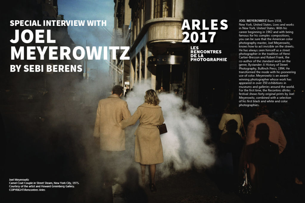 JOEL MEYEROWITZ, an exclusive interview with one of the most known photographer on Art Market Magazine Issue 35