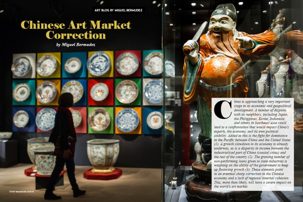 Chinese Art Market Correction By Miguel Bermudez on Art Market Magazine Issue 35