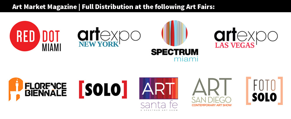 Art Market Magazine International Distribution at Main Art Fairs around the world.