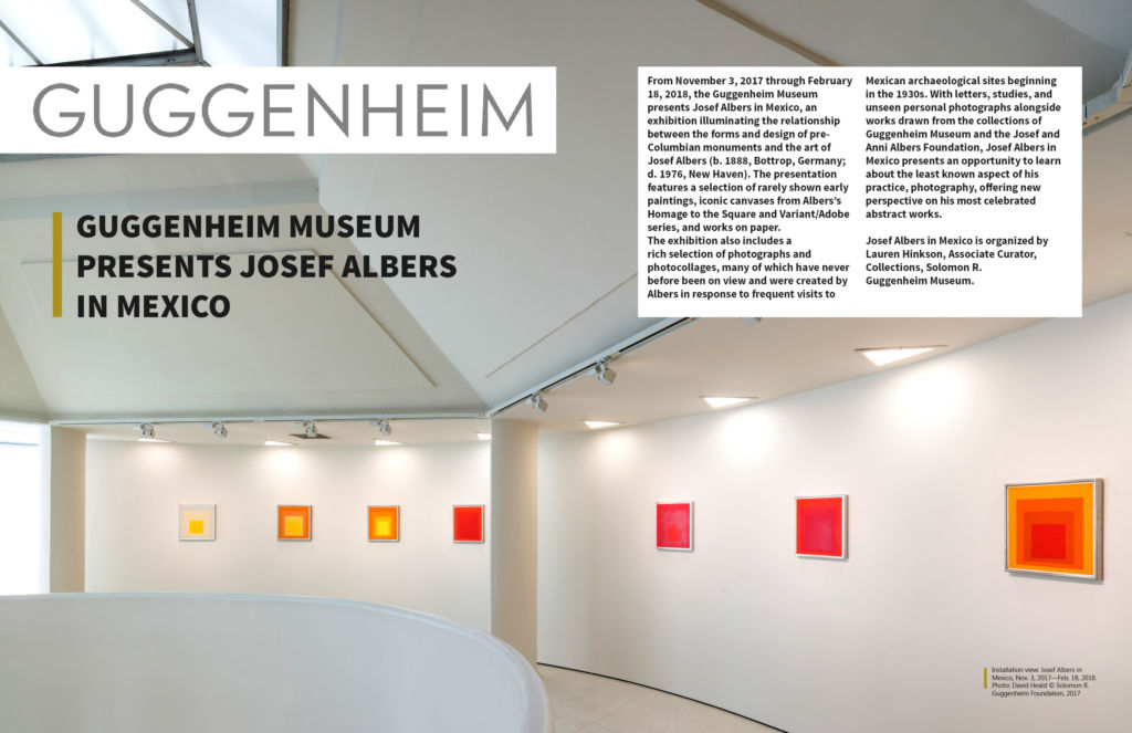 Josef Albers in Mexico, Exhibition Coverage. Guggenheim Museum on Art Market Magazine Issue 38